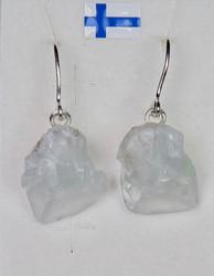 Korvakorut: Selestiitti  'enkelikivi'+ 925-hopea-silver (sel7) Unikki!