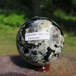 Gelioliitti pallo 560g 7cm kivipallo. Katso video