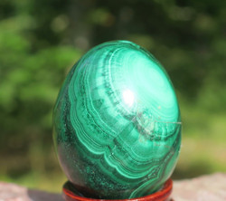 Kivimuna malakiitti vihreä raidallinen 63g 35mm