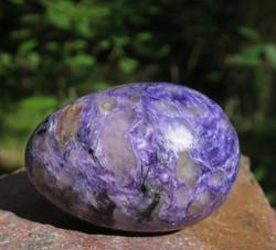 Kivimuna tsharoiitti 139g 55mm violetti nro A