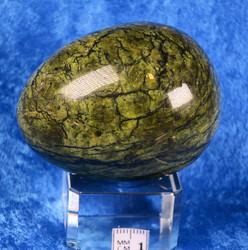 Kivimuna serpentiini, vihreä kimalteleva 195g, 6cm