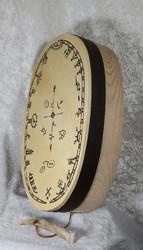 Noitarumpu: ovaali 17x29cm, käsinsidottu, kalistin poronsarvea