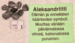 Aleksandriitti raaka, harvinainen!