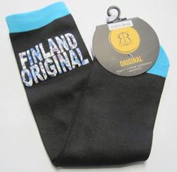 Sukat Finland original, koko 36-42, musta-turkoosi RUUSUT