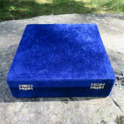 Kivipikarit onyksmarmori 6 kpl setti, 6,2x10cm samettisessa laatikossa
