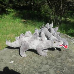 Pehmolelu dinosaurus eli hirmulisko, harmaa 53cm