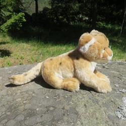 Pehmolelu Leijona pentu, nenästä hännänpäähän 56cm