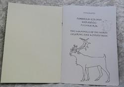 Puuhakirja: Pohjolan eläimet/ nisäkkäät, kertomukset suomeksi ja englanniksi, 36 sivua