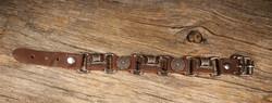Rannekoru: Viikinkilaiva ja kilpi (viking) nahkarannekoru