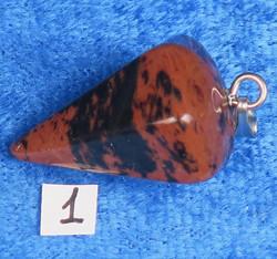 Heiluri-riipus mahonkiobsidiaani n.22mmx13mm, ilman ketjua