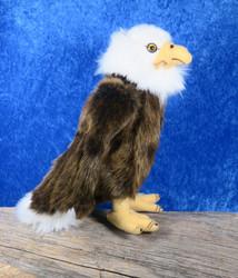 Pehmolelu kotka nokasta pyrstöön 35cm korkeus 23cm lintu