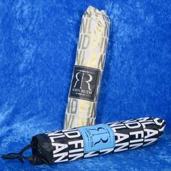Sateenvarjo, umbrella: musta/valkoinen