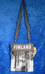 Olkalaukku: Poro- Finland 19x22cm, maastonvihreä- Sailor Passport