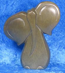 Kiviveistos abstrakti serpentiini elefantti  kivinorsu nro39