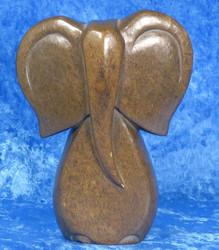Kiviveistos abstrakti elefantti serpentiininorsu, patsas nro36