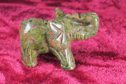 Kivieläin Elefantti unakiitti 4x3x2cm norsu