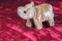 Kivieläin Elefantti, valtamerijaspis 4x3x2cm patsas  15g