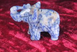Kivieläin elefantti sinikvartsi 4x3x2cm, 15g