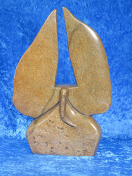 Kiviveistos abstrakti elefantti serpentiini kivinorsu nro 28