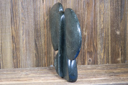Kiviveistos abstrakti elefantti  3kg serpentiini kivinorsu nro31