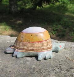 Kilpikonna marmoriveistos 1,14kg kivieläin