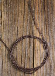 Riipusnauha 1m vahattu puuvillanauha musta tai ruskea