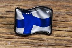 Pinssi Suomenlippu liehuva 20x25mm pullea