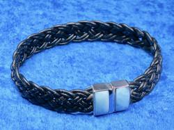 Nahkarannekoru larimar 925-hopea 20cm magneettilukko