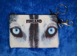 Kukkaro pussukka Huskyn silmät Finland-Lapland 8x11cm