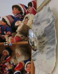 Kivilamppu: Marmoria, harmaa, 30x33cm seinävalaisin,
