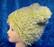 Hattu Lasten talvihattu, vuorillinen vihreä ihana pörröhattu