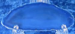Akaattilevy sininen n. 63x26mm (s20) agate/Brasilia