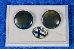 Klipsikorvakorut spektroliitti 17mm, 925-hopea FX