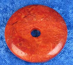 Riipus koralli 35mm donitsi, punainen vaahtokoralli