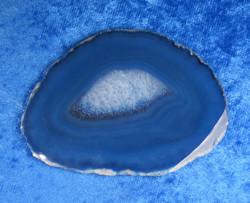 Akaattilevy sininen 77x57mm nro SM