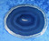 Akaattilevy sininen 80x67mm nro ST