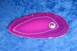 Akaattilevy pinkki 78x35mm nro Pk