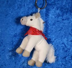 Pehmolelu avaimenperä hevonen, huivi kaulassa, valitse väri