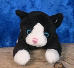 Pehmolelu kissanpentu mustavalkoinen 14cm, vauvalelu