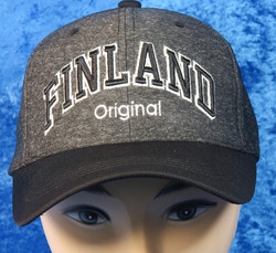 Lippis Finland tummanharmaa, musta lippa nro f13o