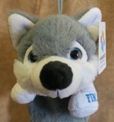 Kynäkotelo Husky pehmolelu siniset silmät penaali 28cm, vetoketju