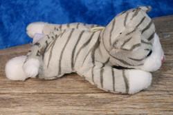 Pehmolelu kissanpentu harmaa raidallinen 14cm, vauvalelu