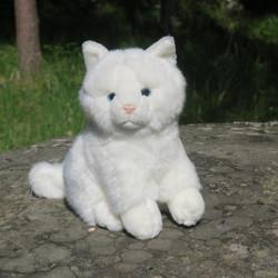 Pehmolelu kissa valkoinen istuva 20cm