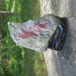 Maljakko Vuori, leveä, korkeus 22cm, keramiikkaa, punainen vaasi