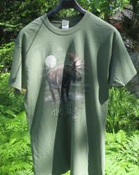T-paita Hirvi Nordic Wildlife alces alces, maastovihreä M-koko