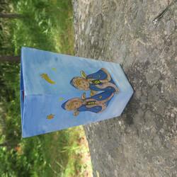 Maljakko enkelit kulmikas keramiikkaa, korkeus 19,5cm