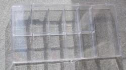 Pleksilokerikko 148x78x18mm, kansi saranalla