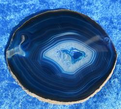 Akaattilevy sininen 110x112 mm, reikä nro SX1