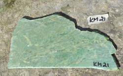 Kromimarmori 160g vihreä siivu 180x100x3mm nro KM21