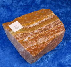 Valtamerijaspis toiselta puolelta hiottu siivu 55x55x20mm 113g nro18